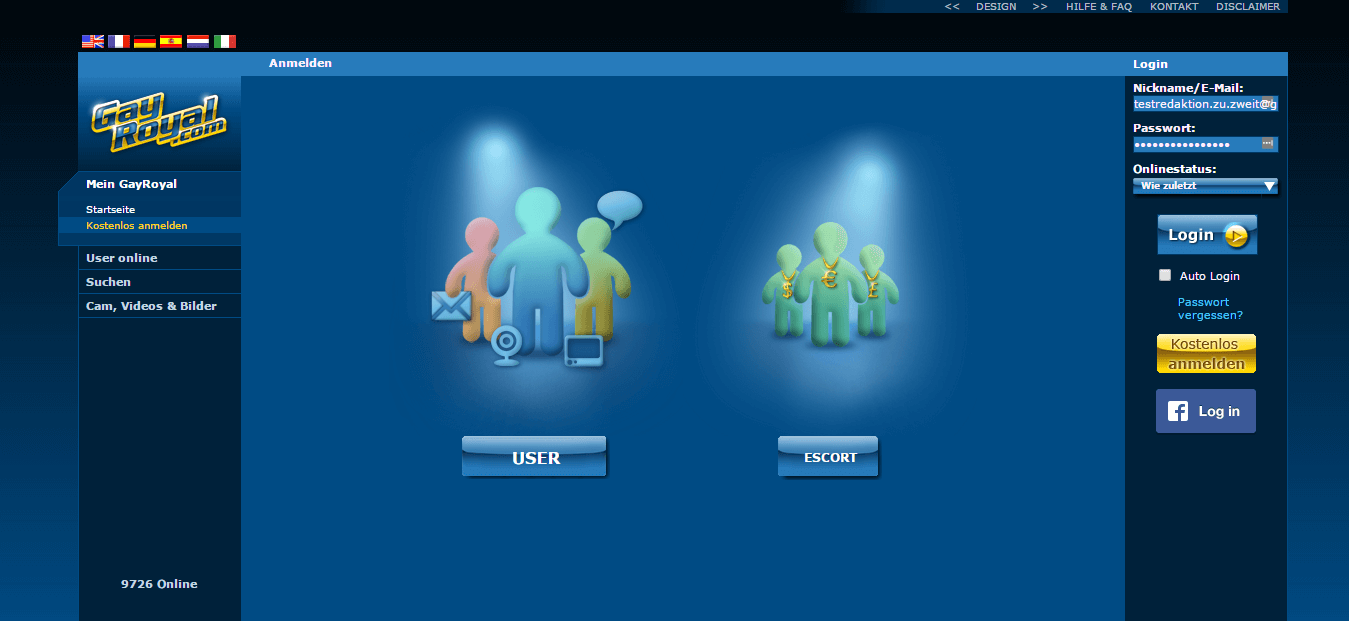 Anmeldung Profiltyp