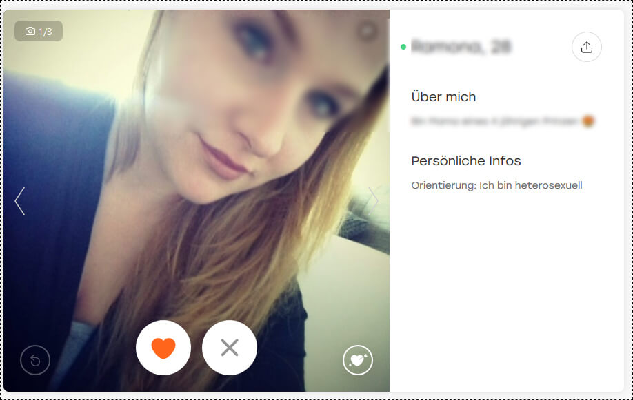 Hot or Not Profilfrau