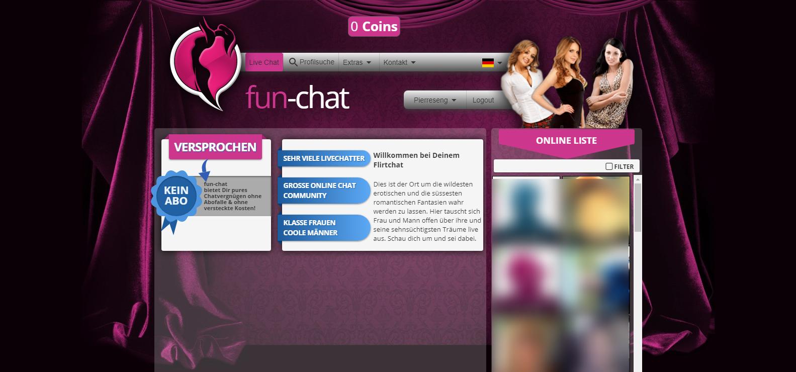 fun-chat Startseite