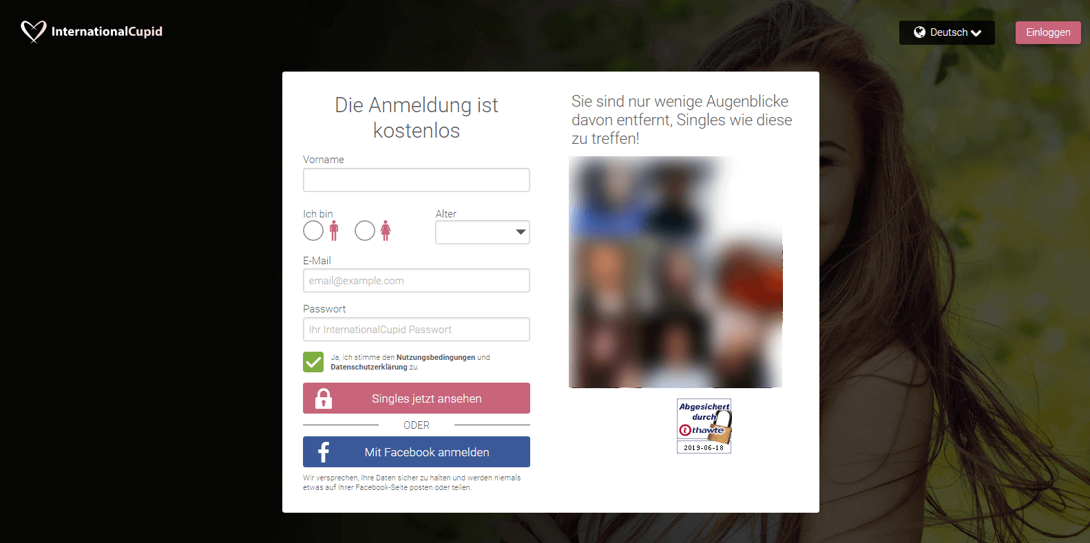 InternationalCupid Anmeldung