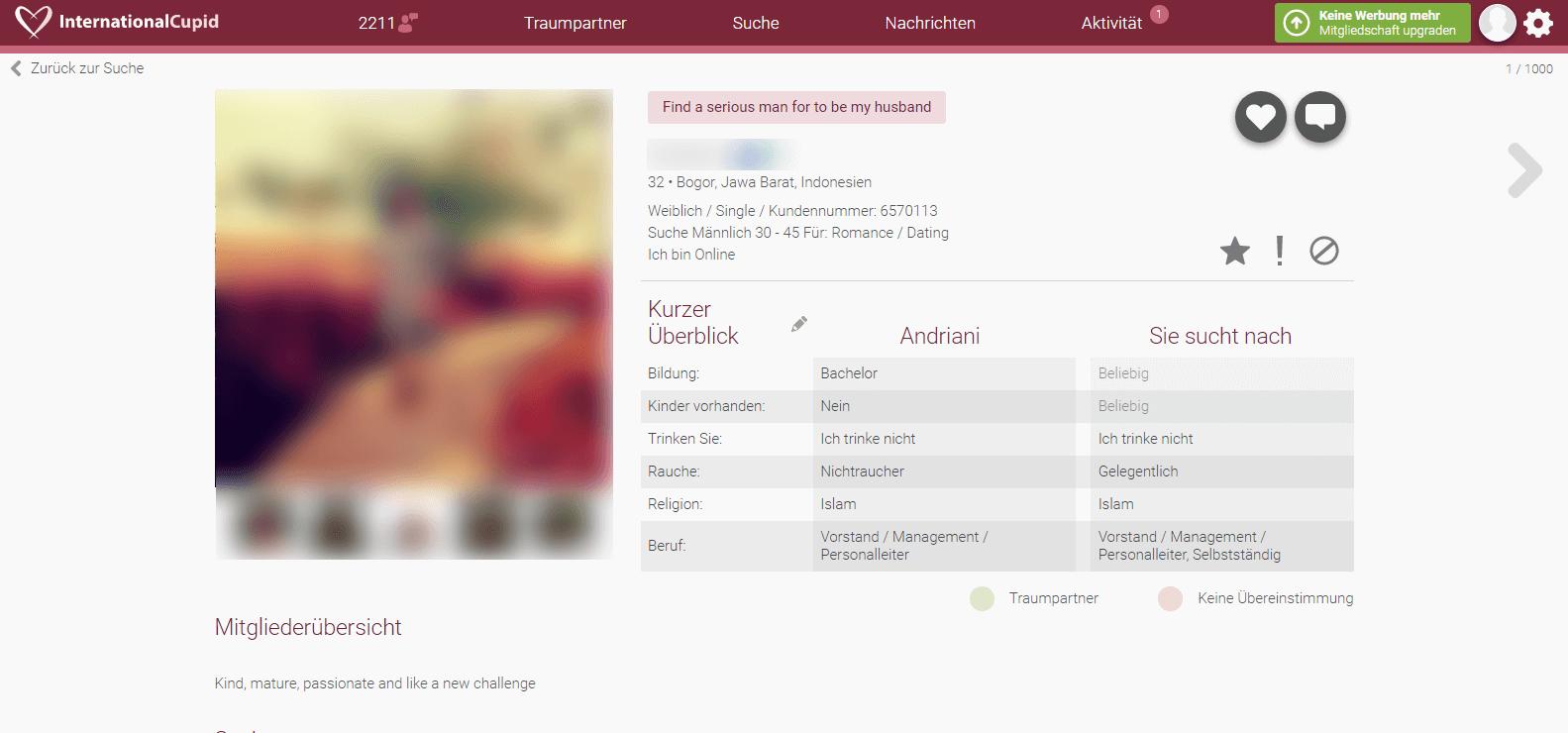 InternationalCupid Profil