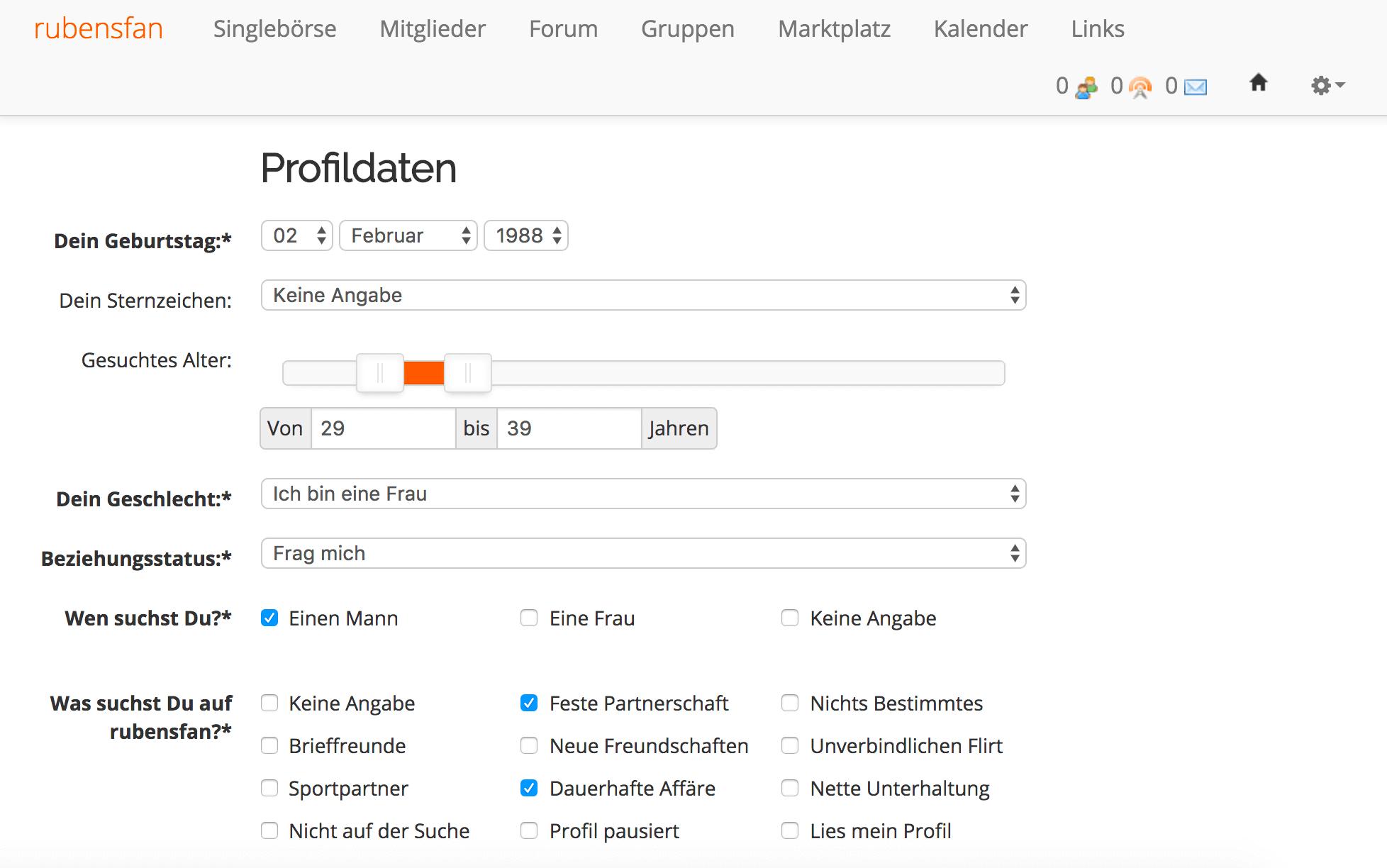 Profilbeschreibung partnersuche