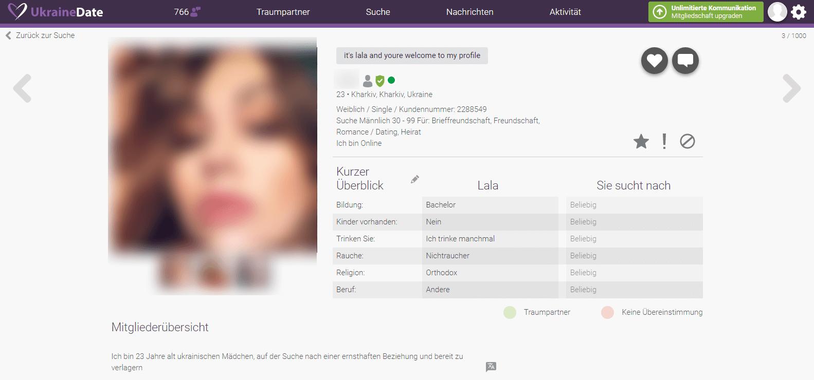 UkraineDate Profil