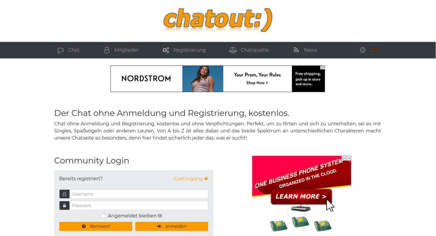 Chatout Startseite