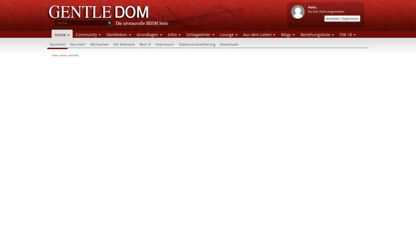 Gentledom Startseite