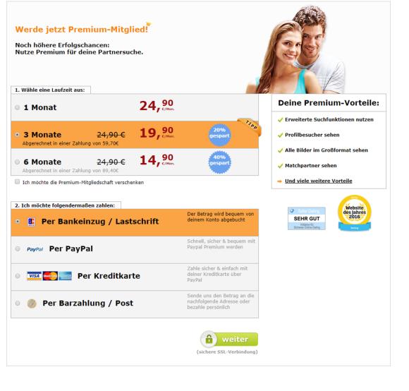 Bildkontakte Kosten