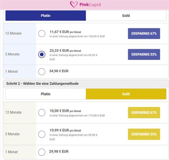 PinkCupid Preise