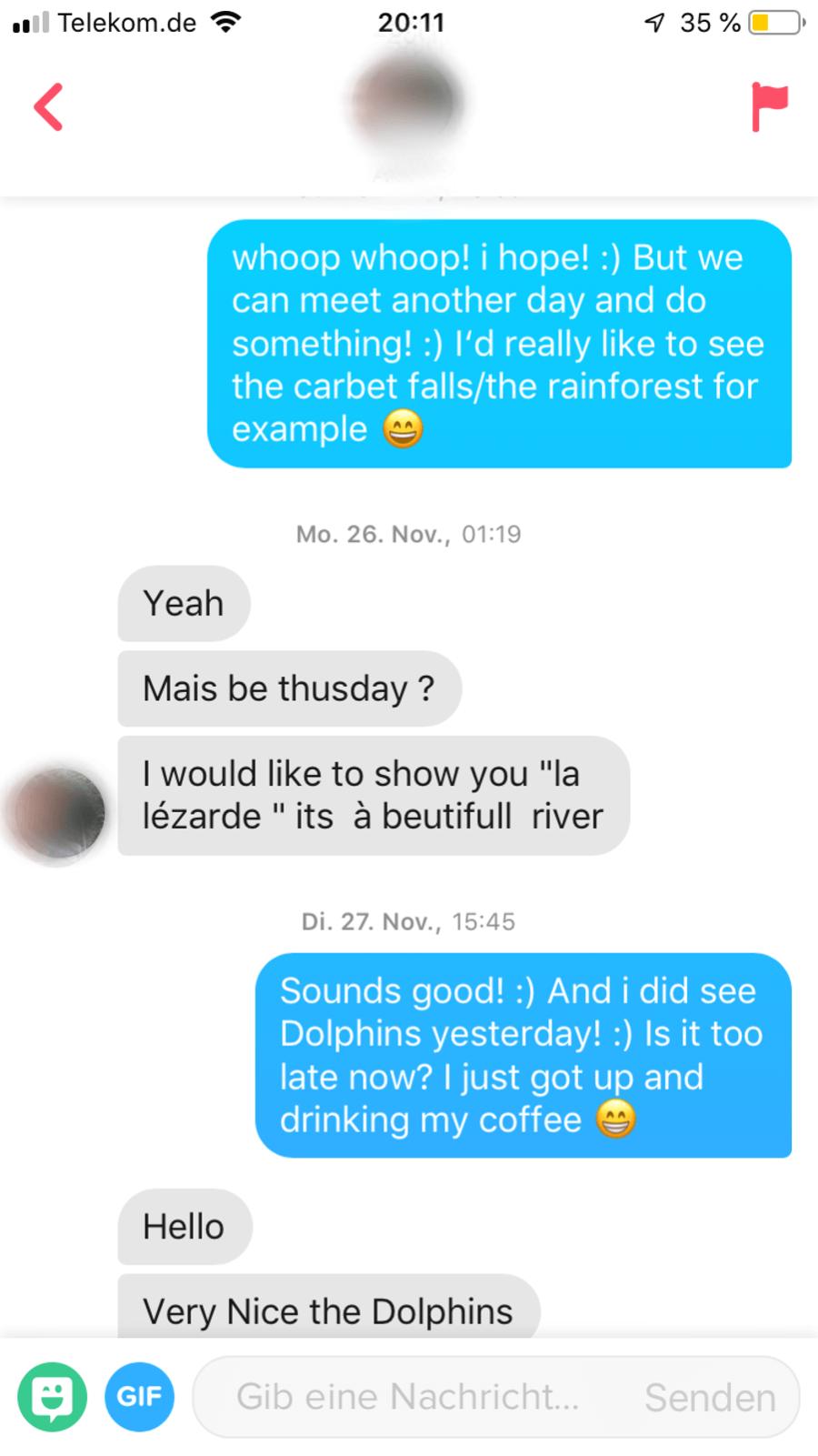 Chat mit Alex