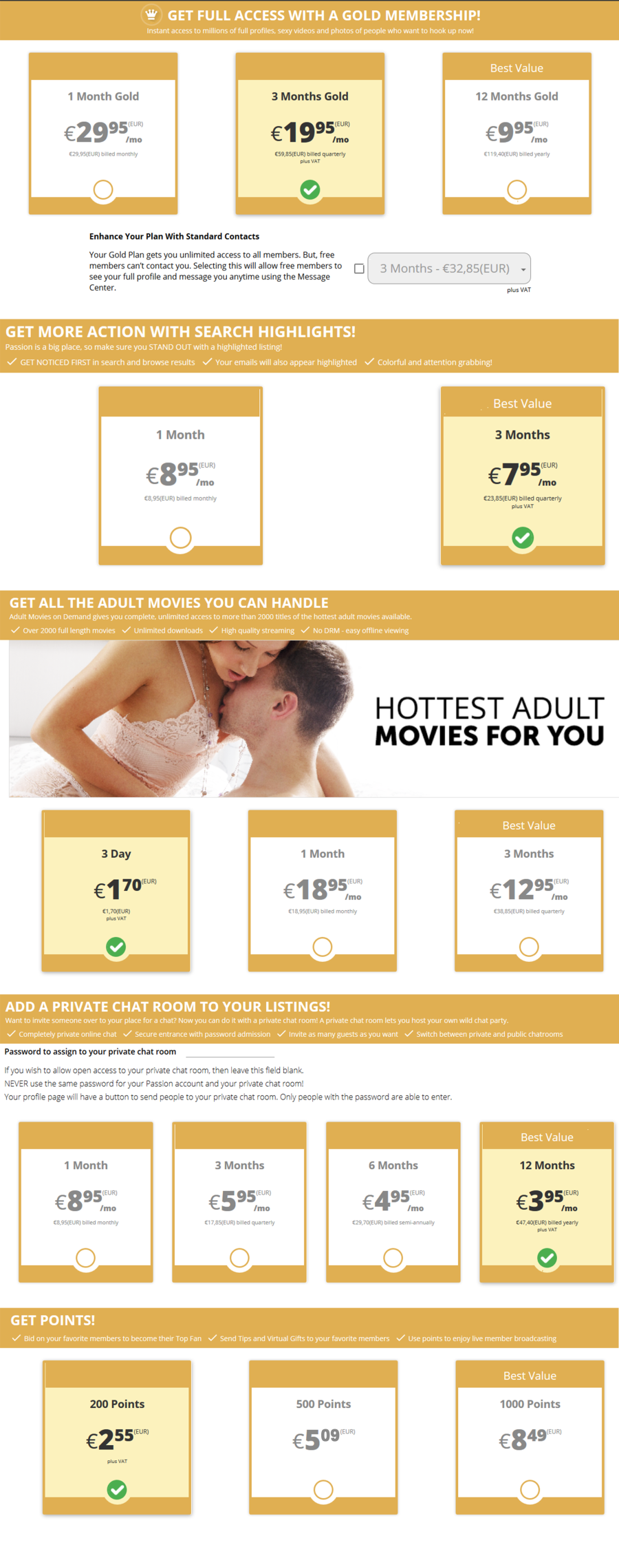 Adultfriendfinder DE Price