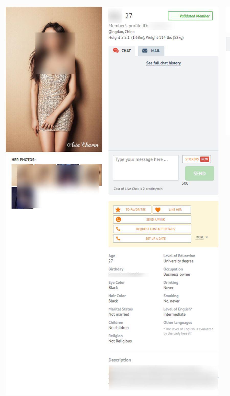 AsiaCharm Frauenprofil