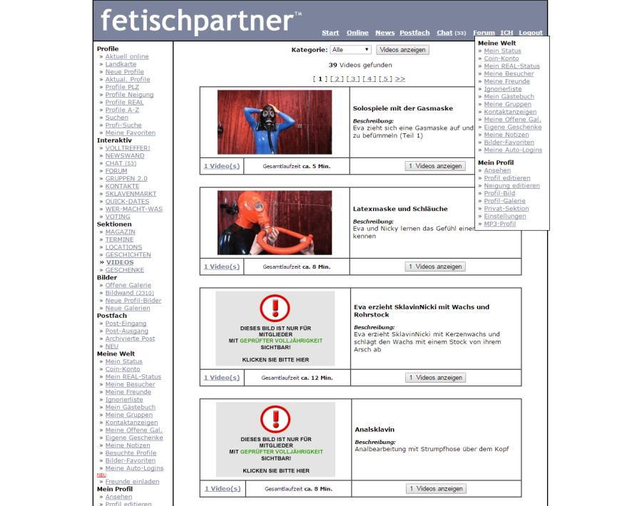Fetischpartner Videos