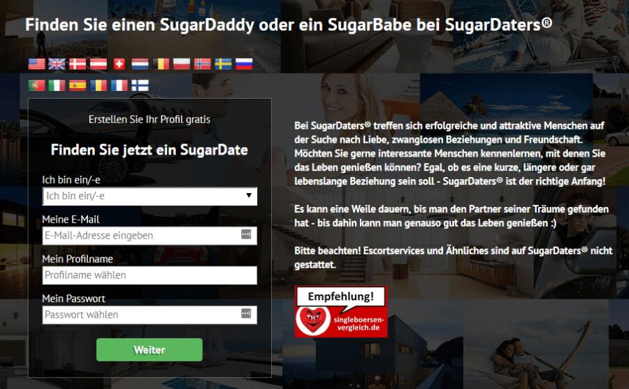 Sugardaters erster Schritt