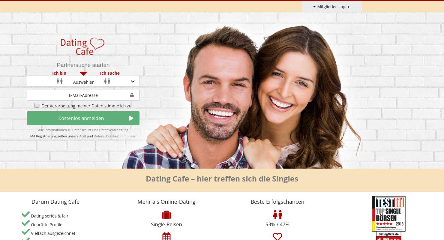 Dating café einloggen